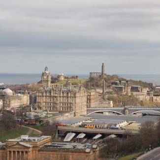 Udsigt fra Edinburgh Castle