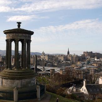 Udsigt fra Calton Hill, Edinburgh