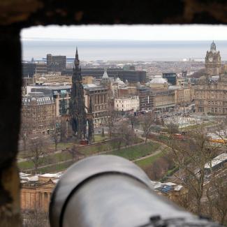 Edinburgh set fra Slottet