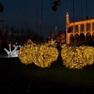 Christmas lights in Tivoli Gardens Copenhagen