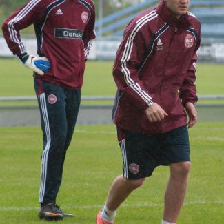 Anders Lindegaard og Nicklas Bendtner