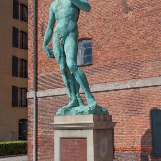 Kopi af Michelangelos David på Esplanaden