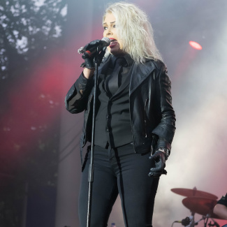 Kim Wilde with band at Tivoli Firheden in Aarhus Denmark