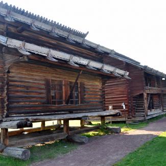 Älvdalens kyrkhärde. Nogle af sveriges äldste træbygninger