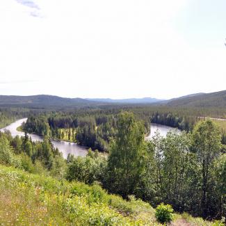 Österdalälven set fra Åsen